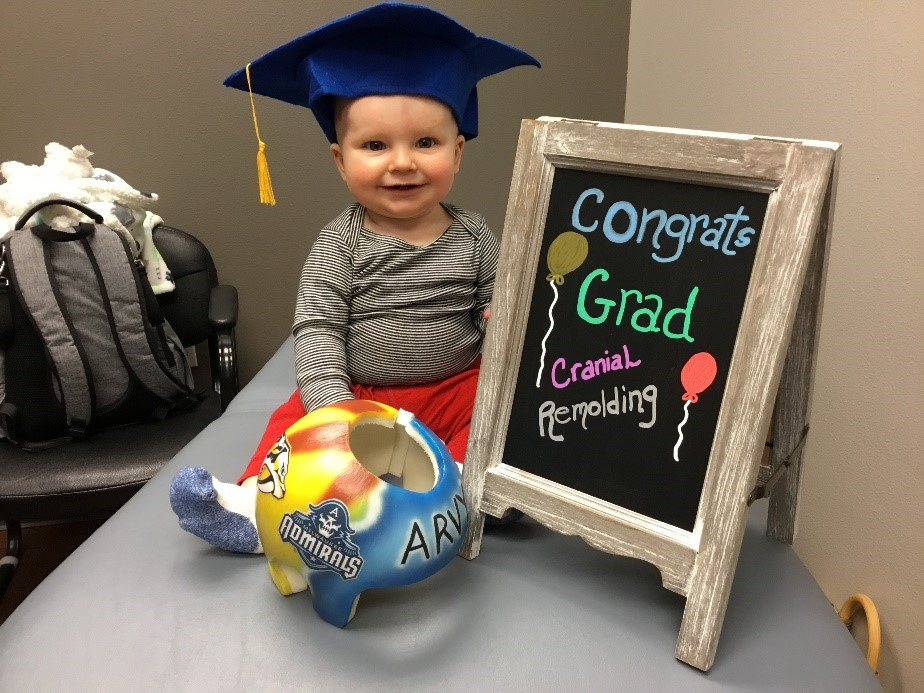 baby in graduation cap