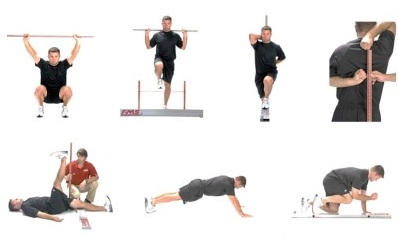 collage of exercise